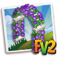 Purple Floral Arch