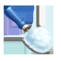 Ice shavings