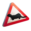 Otter-Crossing Sign
