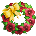 Red Pansy Wreath