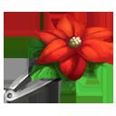 Poinsettia Hair Clip
