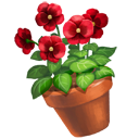 Red Pansy Flower Pot