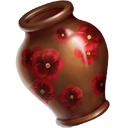 Red Pansy Vase